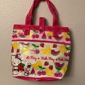 Hello kitty by:  Sanrio canvas tote bag.